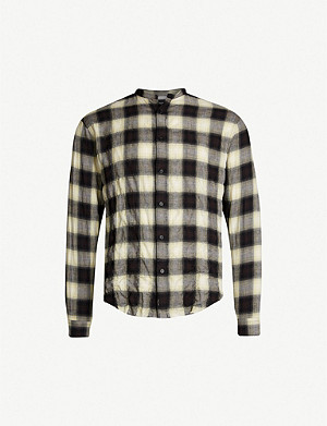 THE KOOPLES Checked Japanese-cotton shirt