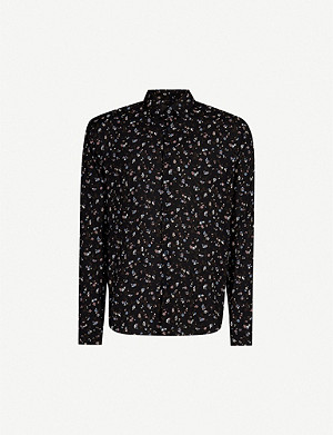 THE KOOPLES Floral-print relaxed-fit crepe shirt