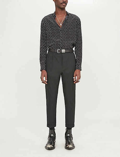 THE KOOPLES Graphic-print relaxed-fit silk shirt