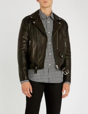 c80ddea30a THE KOOPLES - Double-puller leather jacket | Selfridges.com