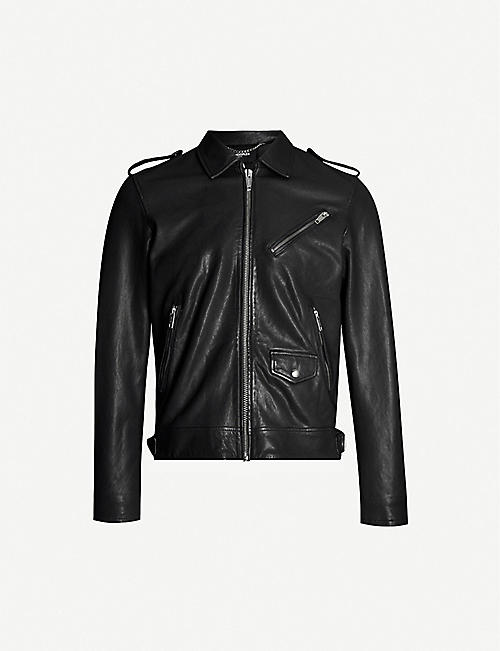 THE KOOPLES Slim-fit leather jacket