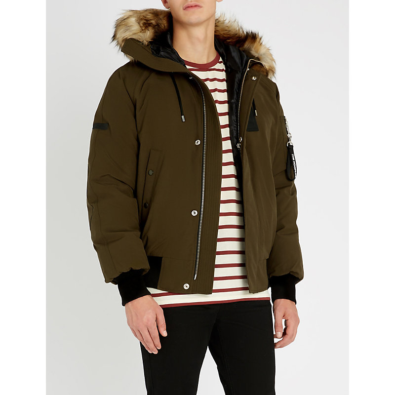 THE KOOPLES   Faux-Fur Trimmed Padded Shell Jacket   Goxip
