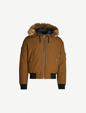 THE KOOPLES Faux-fur trim shell jacket