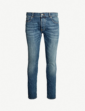 THE KOOPLES Faded slim-fit tapered jeans