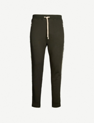 THE KOOPLES Striped-side slim-fit cotton-jersey jogging bottoms