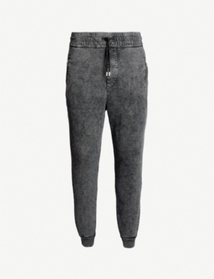 THE KOOPLES Washed tapered jersey jogging bottoms