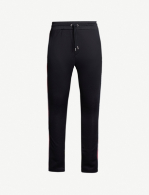 THE KOOPLES Striped-trim slim-fit stretch-jersey jogging bottoms