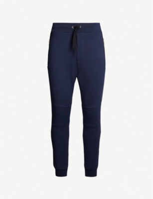 THE KOOPLES Leather-trim slim cotton-blend jogging bottoms
