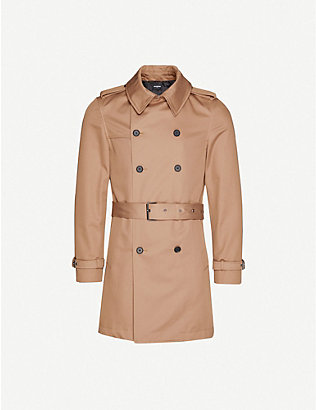 THE KOOPLES: Double-breasted stretch-cotton twill coat