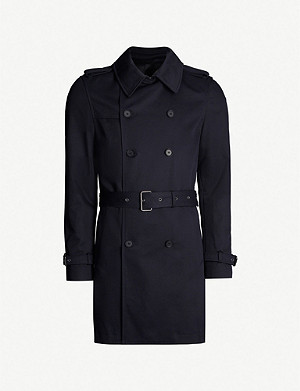 THE KOOPLES Double-breasted cotton trench coat