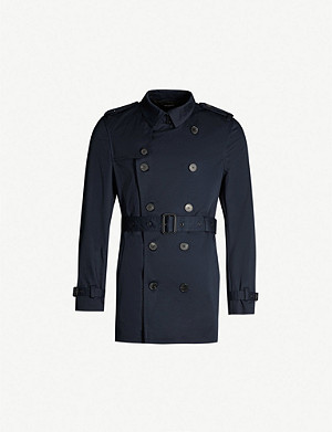 THE KOOPLES Double-breasted stretch-cotton twill coat
