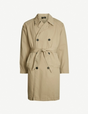 THE KOOPLES Raw-edge double-breasted cotton coat