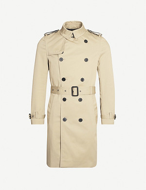 THE KOOPLES Double-breasted stretch-cotton twill trench coat