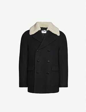 THE KOOPLES SPORT Regular-fit double-breasted wool-blend coat