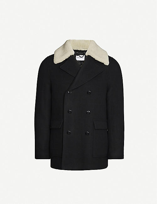 THE KOOPLES SPORT: Regular-fit double-breasted wool-blend coat