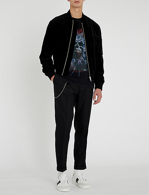 THE KOOPLES Wool-blend regular-fit trousers