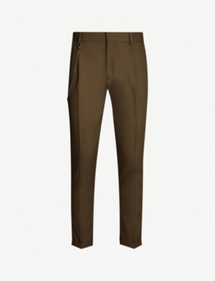 THE KOOPLES Chain trim wool-blend trousers