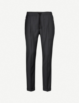 THE KOOPLES Slim-fit tapered crepe trousers