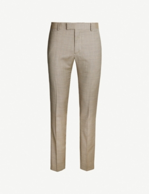 THE KOOPLES Slim-fit mid-rise check wool trousers