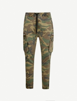 THE KOOPLES Camouflage-print slim-fit tapered jeans