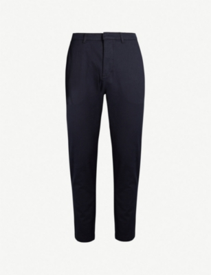 THE KOOPLES Striped-trim regular-fit stretch-cotton trousers