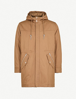 THE KOOPLES Hooded cotton-gabardine parka coat