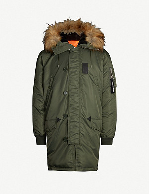 THE KOOPLES Faux fur-trim hooded shell jacket