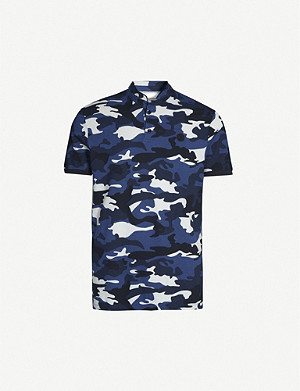 THE KOOPLES Camouflage-print cotton-piqué polo shirt