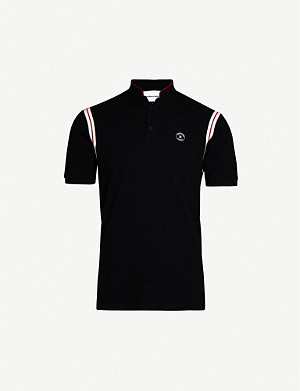 THE KOOPLES Branded cotton-piqué polo shirt
