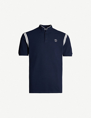THE KOOPLES Logo-embroidered cotton polo shirt