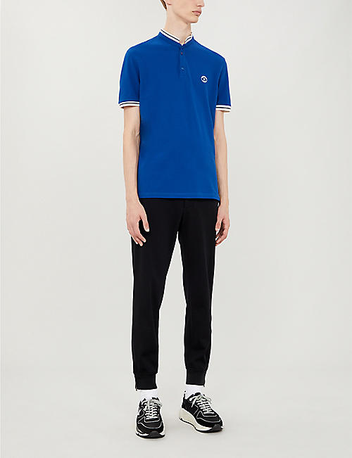 THE KOOPLES Short-sleeved cotton-piqué polo shirt