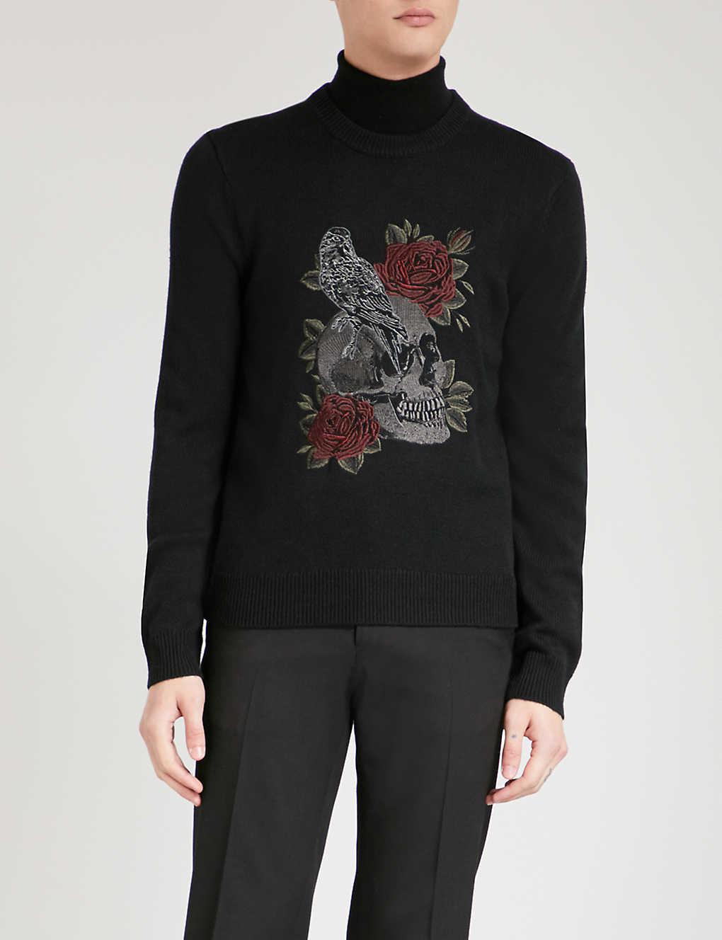 6fbee197de7 THE KOOPLES - Skull-embroidered wool-blend jumper | Selfridges.com