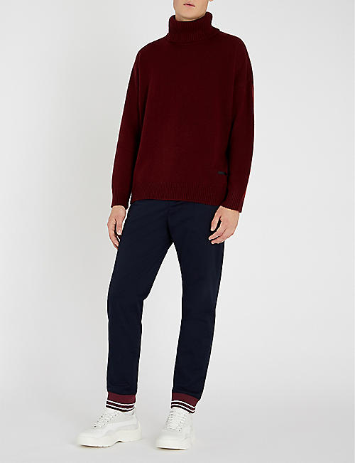 THE KOOPLES Turtleneck wool and cashmere-blend jumper