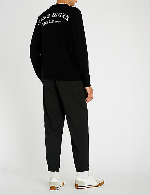 THE KOOPLES Fire Walk with Me embroidered wool-cashmere jumper