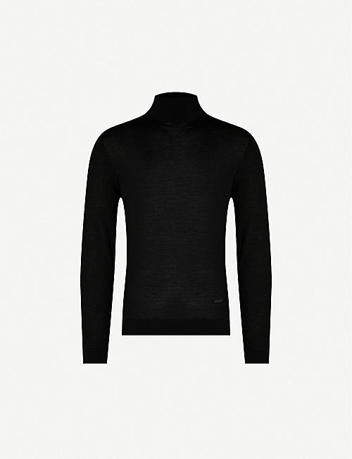 THE KOOPLES: Wool and cashmere-blend turtleneck jumper