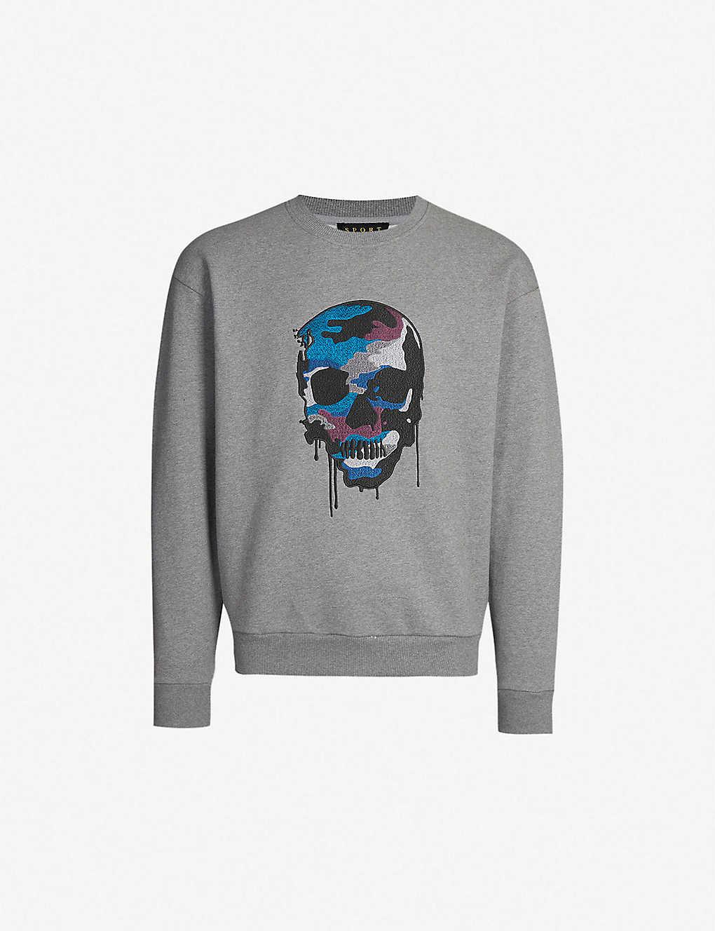 94dc8972740 THE KOOPLES - Skull-print cotton-jersey sweatshirt | Selfridges.com