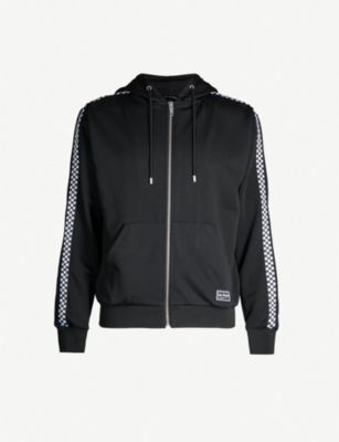 THE KOOPLES Chequerboard-panel jersey hoody