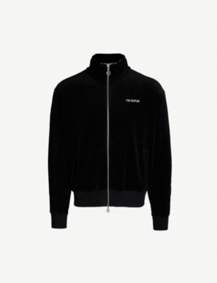THE KOOPLES Logo-embroidered velvet jacket