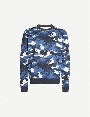 THE KOOPLES Camouflage-print stretch-cotton sweatshirt