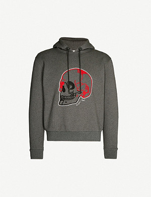 THE KOOPLES SPORT Skull-embroidered cotton-blend hoody