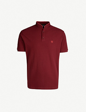 THE KOOPLES Stand collar cotton polo shirt