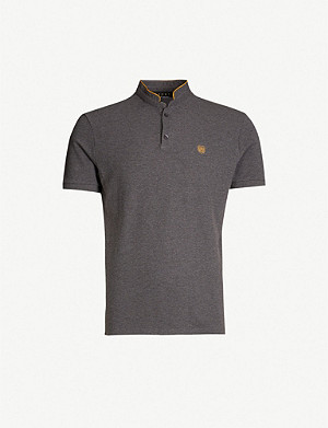 THE KOOPLES Contrast-trim cotton-piqué polo shirt