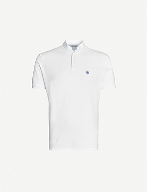 THE KOOPLES Logo-embroidered cotton-jersey polo shirt