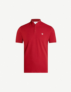 THE KOOPLES Logo-embroidered cotton-piqué polo shirt