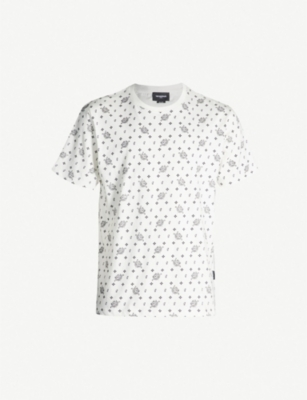 THE KOOPLES Bandanna-print relaxed-fit cotton T-shirt