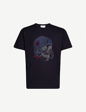 THE KOOPLES Graphic-embroidered cotton-jersey T-shirt