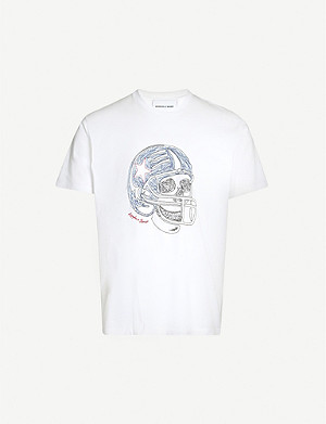 THE KOOPLES Skull-print cotton-jersey T-shirt