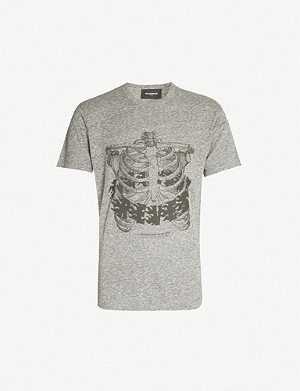 THE KOOPLES Ribcage print cotton-jersey T-shirt