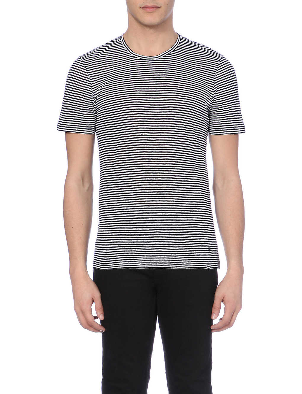 THE KOOPLES - Striped crew neck linen t-shirt | Selfridges com
