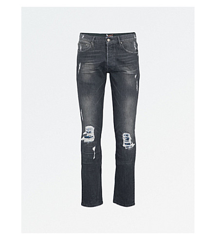 8dd63bc31e4 THE KOOPLES - Slim-fit skinny destroyed mid-rise jeans | Selfridges.com